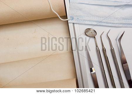 Set Of Tools Dentist