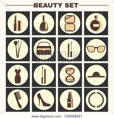 Beauty Big Vector Icon Set