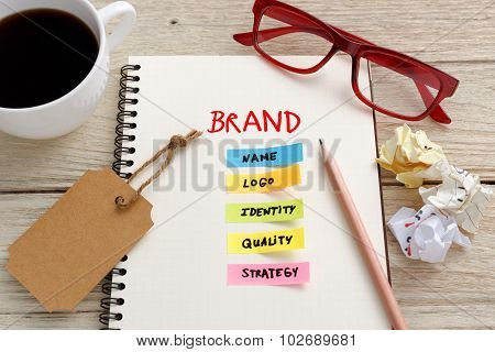 Brand Marketing Concept With Work Desk