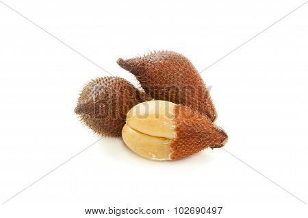 Salak fruit isolated on white background.