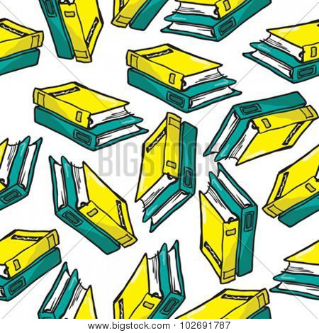 books seamless pattern