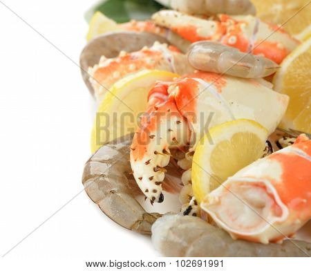 Crab Claws And Shrimp