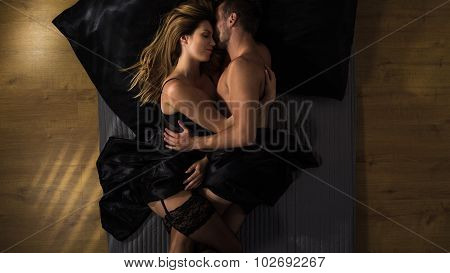 Sensual Couple In Bed