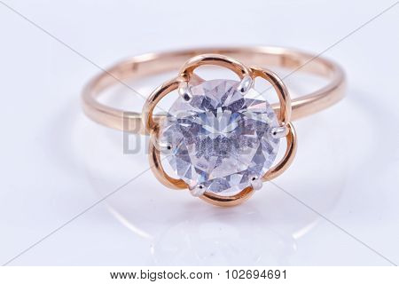 Gold Ring With Precious Stone