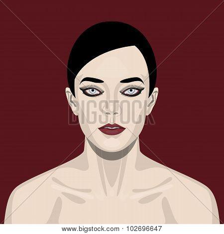 Fashion beauty Woman with smoky Eyes