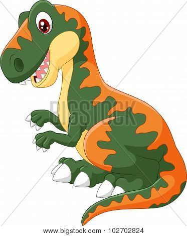 Cartoon tyrannosaurus illustration