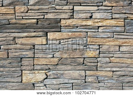 Gray And Brown Stone Stylized Wall Texture.