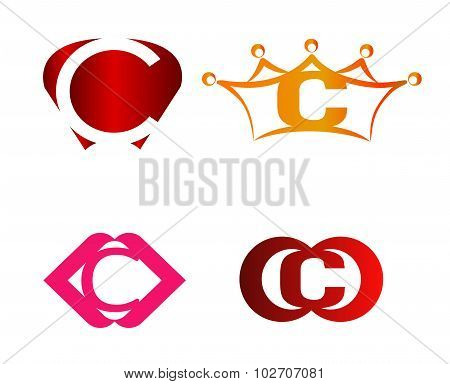 Letter C logo icon set