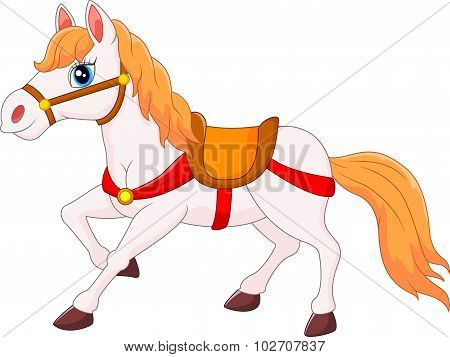 Happy horse cartoon