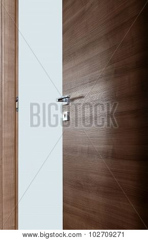 Colored Wooden Door Open A