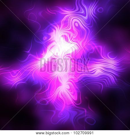 Abstract pink lightning - pattern