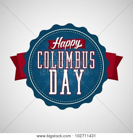 Happy Columbus Day Badge