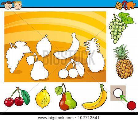 Cartoon Educational Task For Children