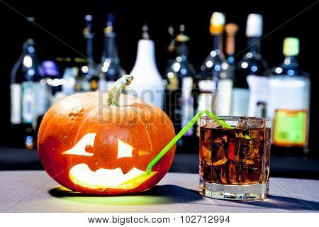 Jack O' Lantern at the Halloween party