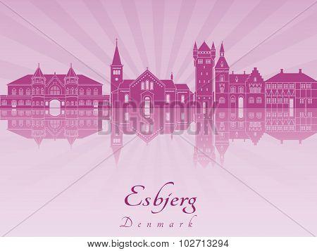 Esbjerg Skyline In Purple Radiant Orchid