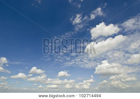 Clear blue sky with white cloud