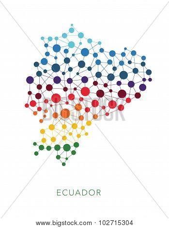dotted texture Ecuador vector background