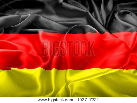 German Flag And Heart