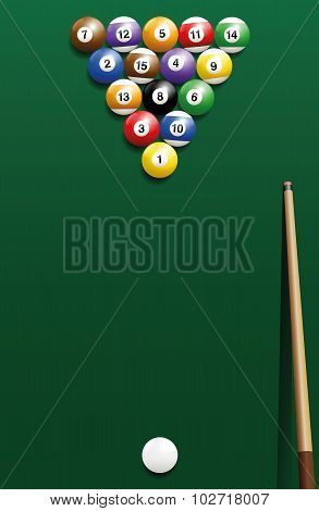 Billiard Break Shot Start Off Cue Sports