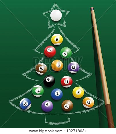 Pool Billiard Christmas Tree Balls