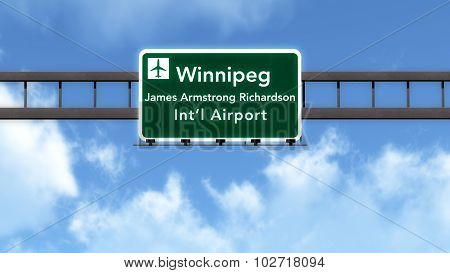 Winnipeg Canada Airport Highway Road Sign