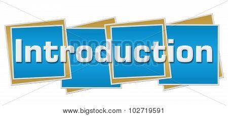 Introduction Blue Blocks