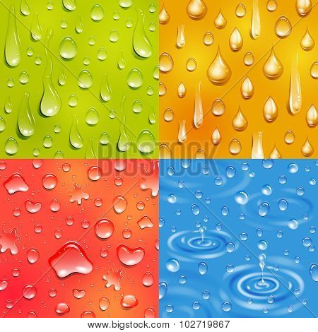 Water Drop Square Banner Set