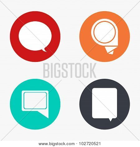 Vector modern bubble speech colorful icons set