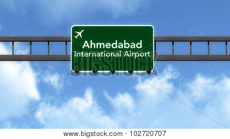 Ahmedabad India Airport Highway Road Sign