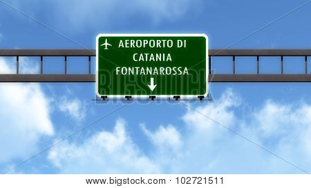 Catania Italy Airport Highway Road Sign