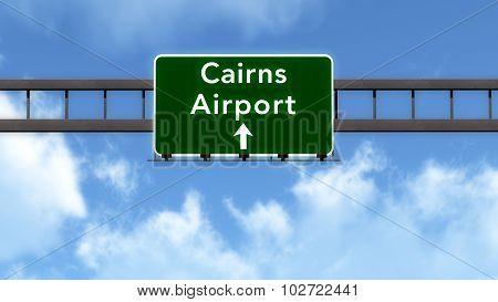 Cairns Australia Airport Highway Road Sign