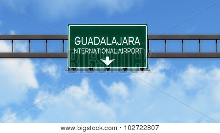 Guadalajara Mexico Airport Highway Road Sign