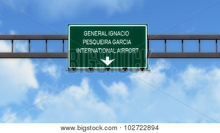 Hermosiilo Mexico Airport Highway Road Sign