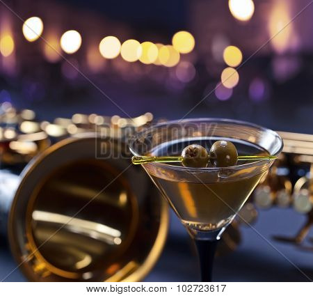 Martini And Saxophone