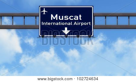Muscat Oman Airport Highway Road Sign