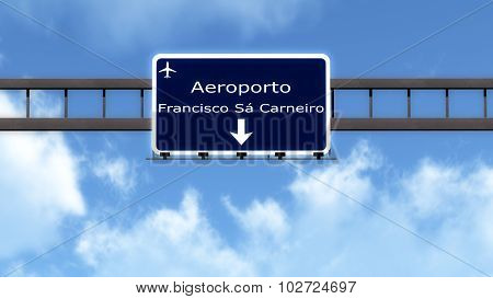 Porto Portugal Airport Highway Road Sign