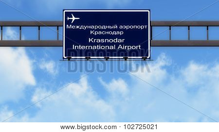 Krasnodar Russia Airport Highway Road Sign