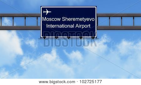Moscow Sheremetyevo Russia Airport Highway Road Sign