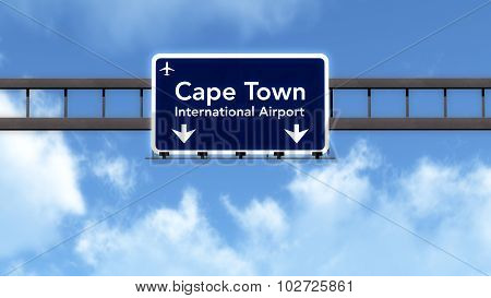 Cape Town South Africa Airport Highway Road Sign