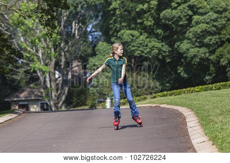 Girl Rollerblade Skating