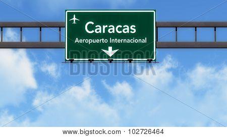 Caracas Venezuela Airport Highway Road Sign