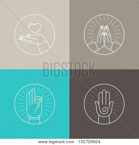 Vector Set Of Linear Icons