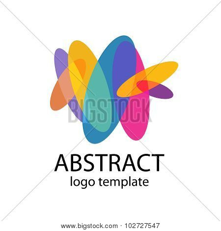 Abstract Colorful Shapes Logo Template