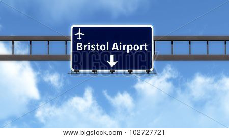 Bristol England United Kingdom Airport Highway Road Sign