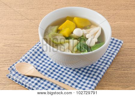 Thai Hot And Spicy Mixed Vegetables Soup