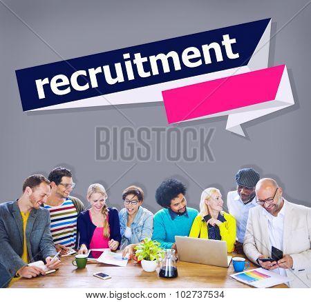 Recruitment Hiring Career Human Resources Concept