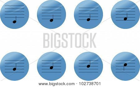 Set Of Music Notes Icons