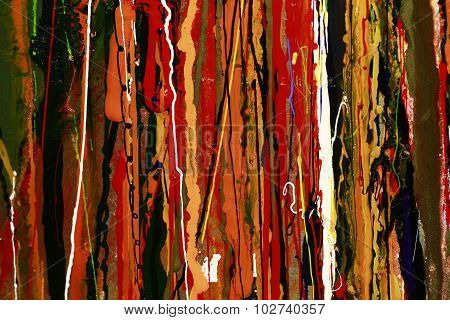 Abstract Paint Red Colours Background