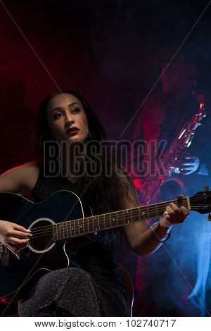 Guitar and Saxophone