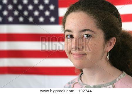 American Girl Smiling